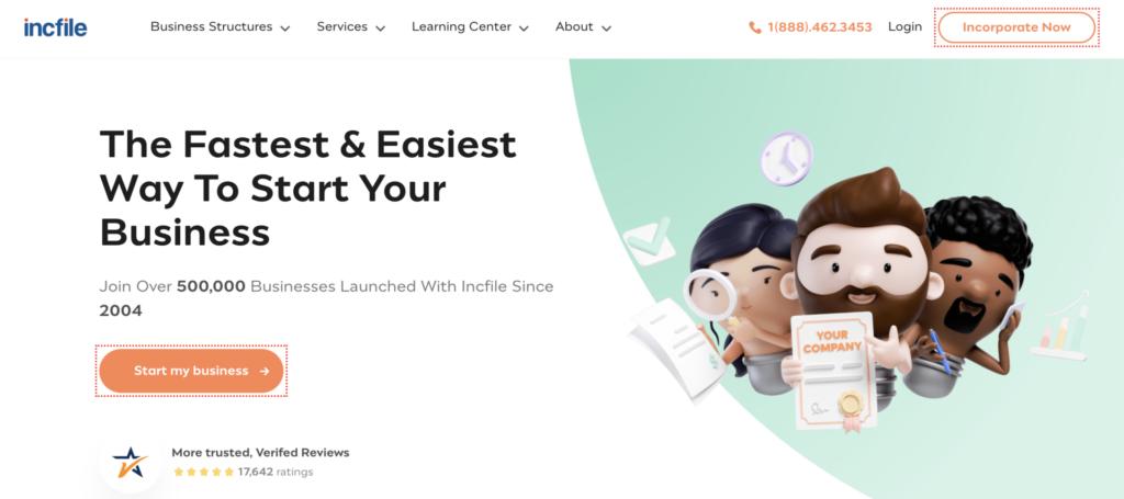 IncFile website
