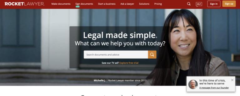 rocketlawyer website