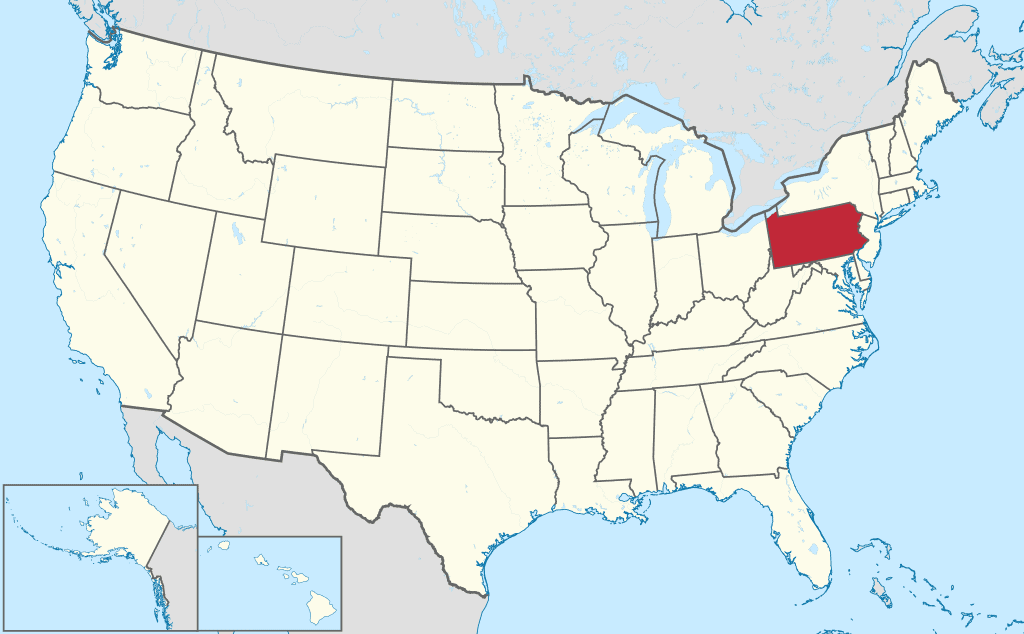 How-to-start-an-LLC-in-PA-USA-Map