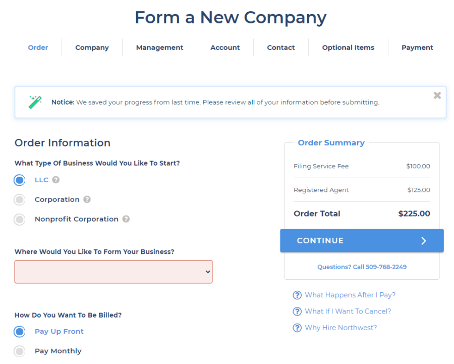 Northwest-Registered-Agents-Form-a-company