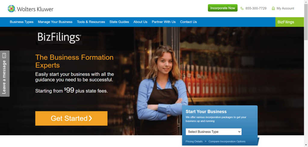 Form an LLC or Corporation Incorporate Online - BizFilings