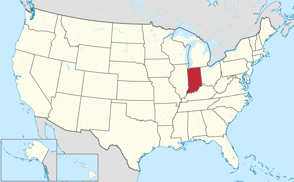 How to form an LLC in Indiana- United States map