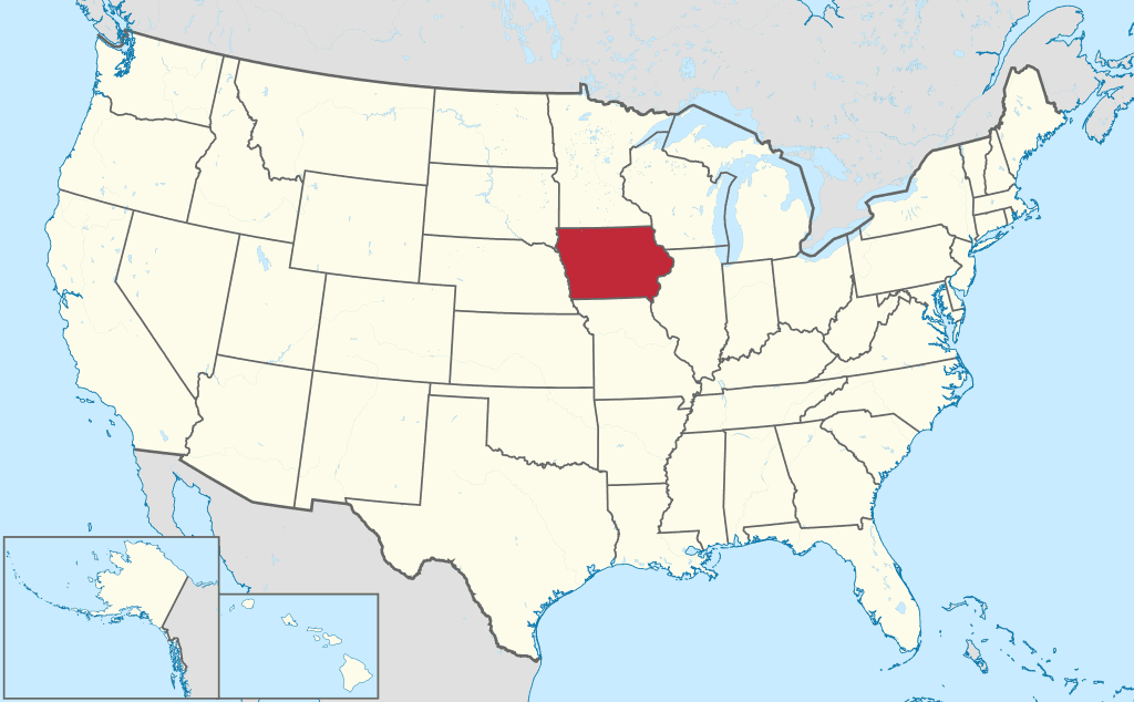 How to Form an LLC in Iowa - United States map