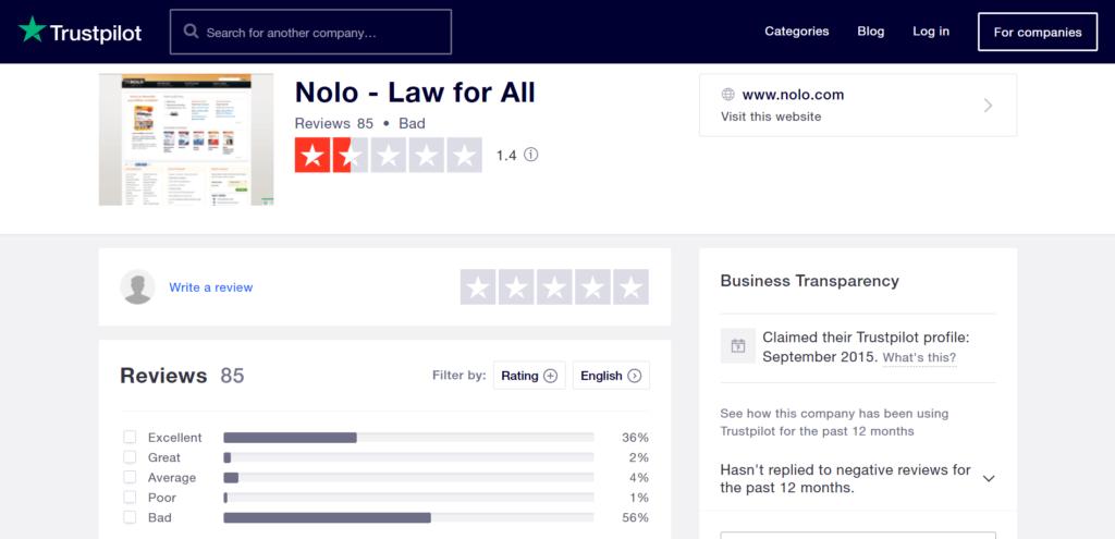 Customer Service Reviews of Nolo - TrustPilot