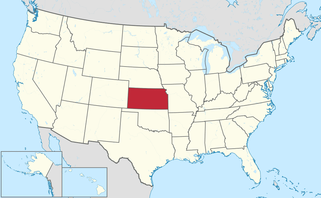 How to form an LLC in Kansas - United States map
