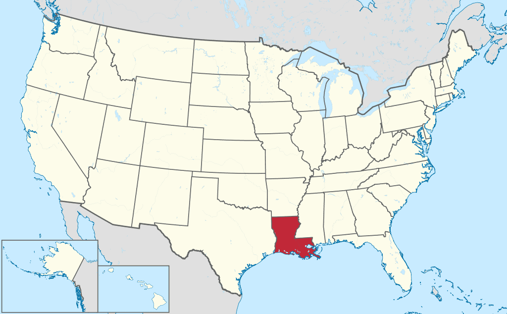 How-to-form-an-LLC-in-Louisiana-United-States-map