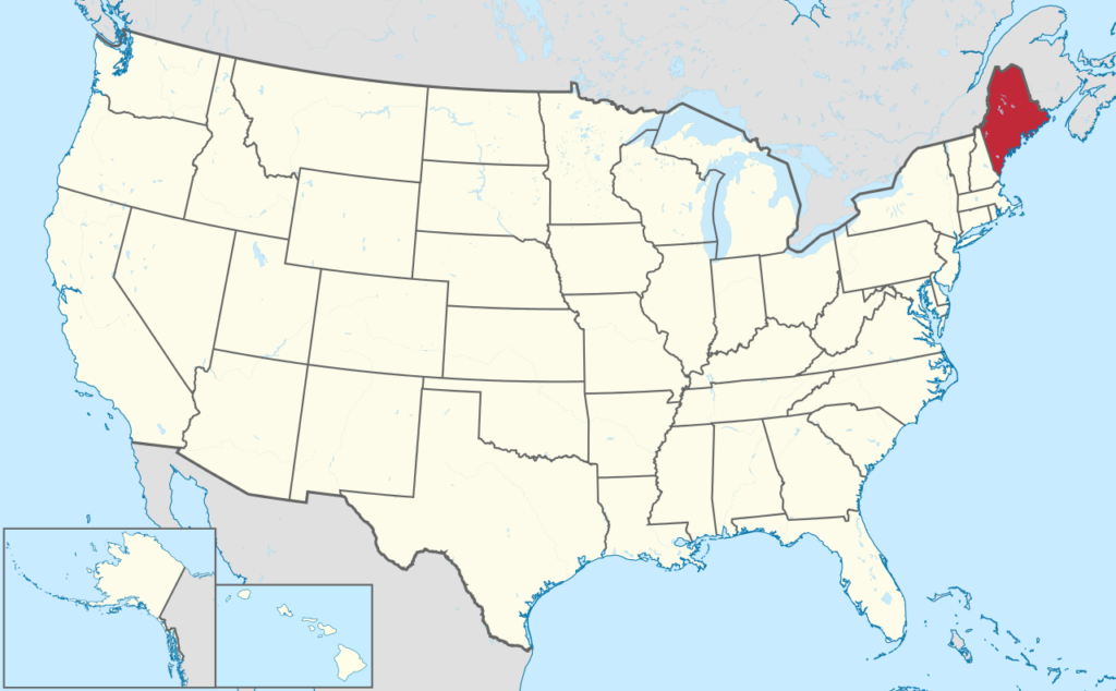 How to form an LLC in Maine - United States map