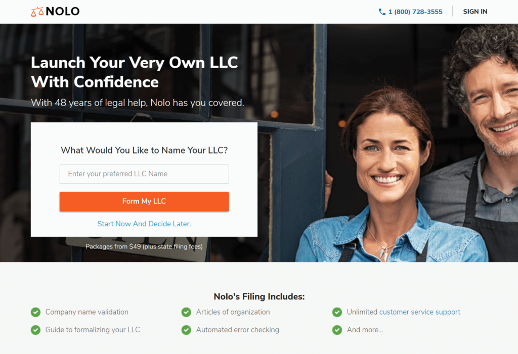 Start-a Limited Liability Company Online LLC Formation - Nolo