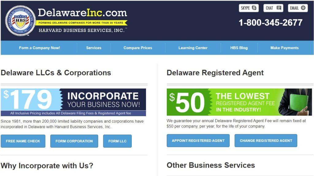 harvard-business-services-website